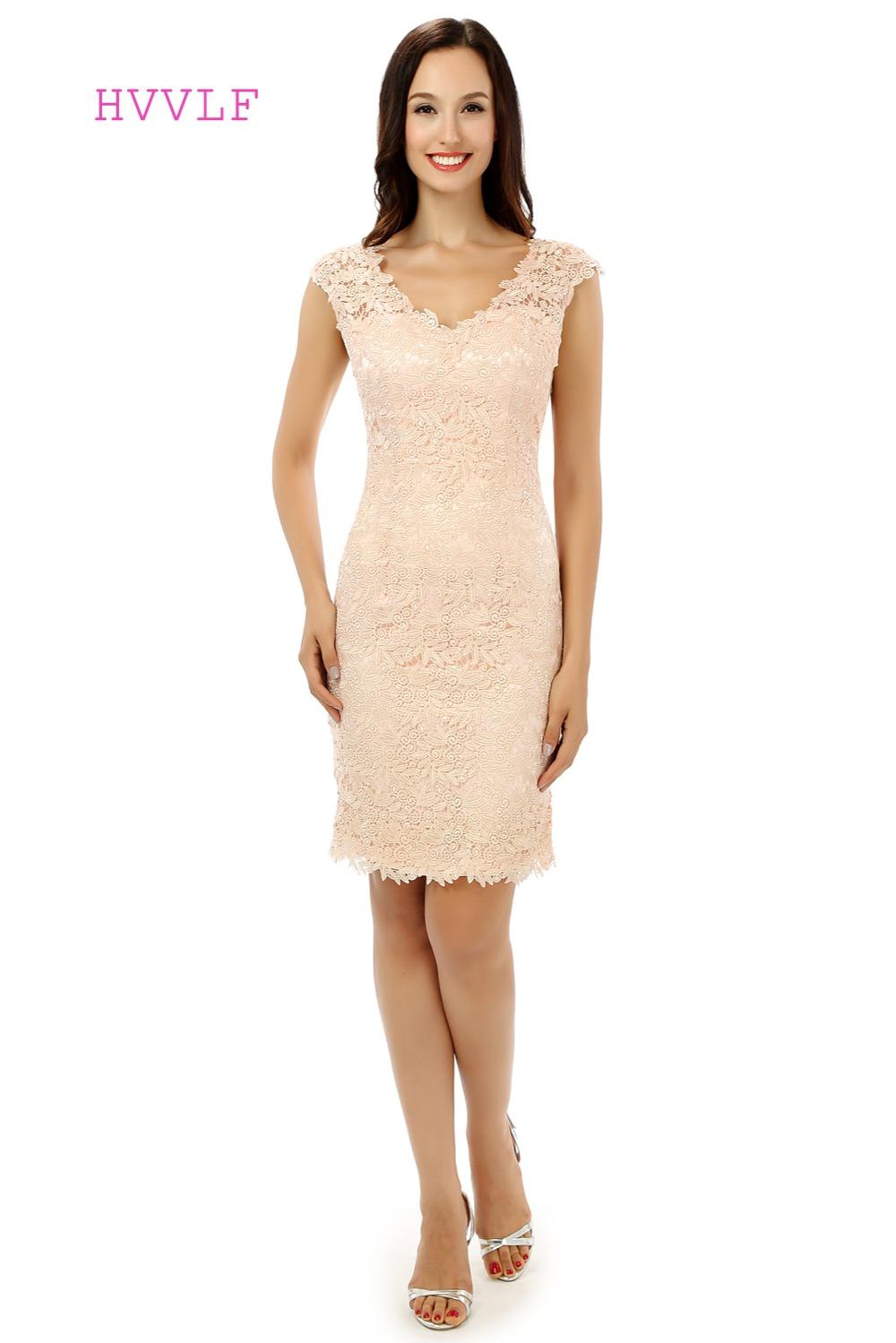 Bride Dresses Sheath V Neck Cap