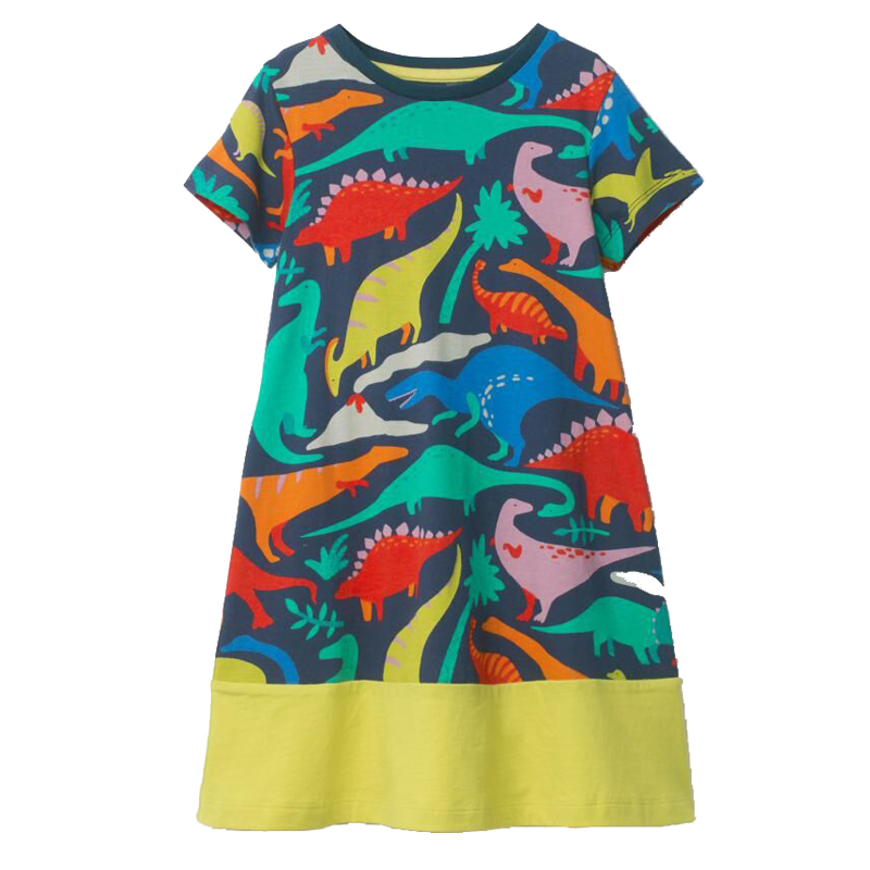 Girls Dinosaur font b Dresses b font Unicorn Baby Girls font b Summer b font Clothes