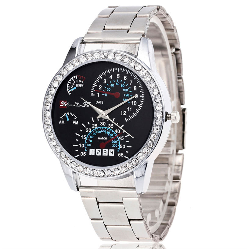 Men Watch Women Reloj Montre Femme Naviforce Dropshipping Luxury Military Stainless Steel Sport Quartz Wrist Hour Dial Watch  4* 10color digital lcd pedometer run step walking distance calorie counter men women watch bracelet watch reloj hombre montre femme