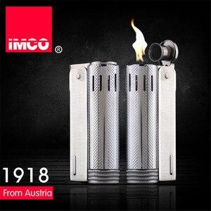 Image 3 - Brand IMCO 5 Stars Lighter Stainless Steel Lighter Original Oil Gasoline Cigarette Lighter Fire Retro Petrol Gift Lighters