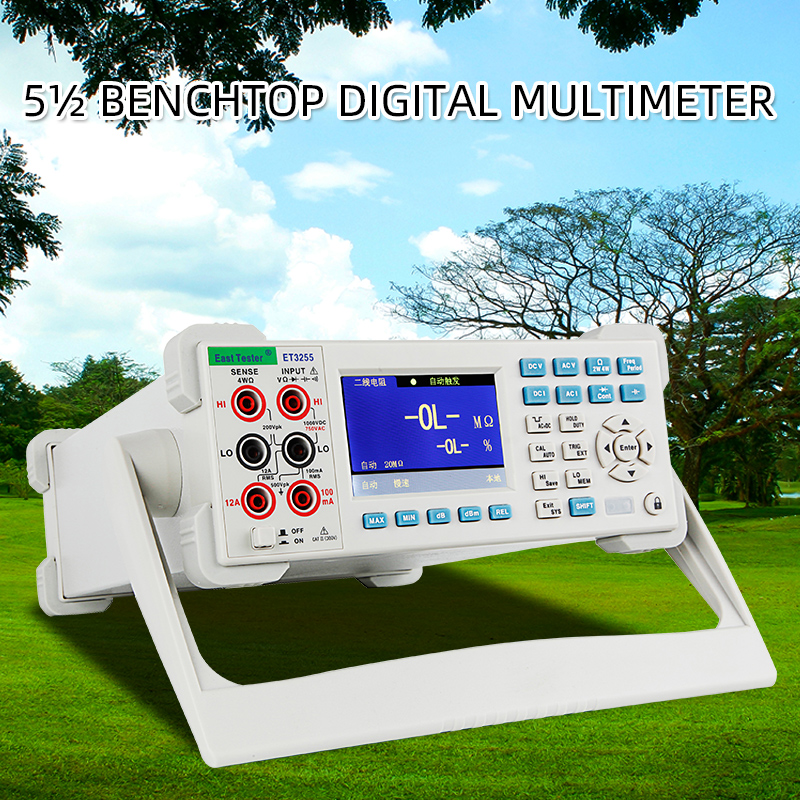 Cor Lcd Multímetro Digital Capacitância Freqüência Resistência de Medição ET3240 ET3255 ET3260 Desktop Instrumento DCV ACV DCI ACI