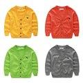 Yn-189, Дети мальчиков свитер кардиган, С длинными рукавами сплошной цвет верхней одежды, 100% хлопок