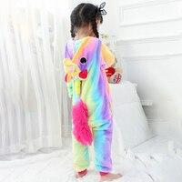 Kids Rainbow Unicorn Onesie Pajama Animal Cartoon Cute Party Suit Boys Girls Festival Birthday Jumpsuit Winter