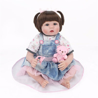 Silicone Reborn Dolls Babies Price Lifelike Npk Reborn Baby 22 Inch Wholesale Bathable Reborn Doll Toys For Girls B6