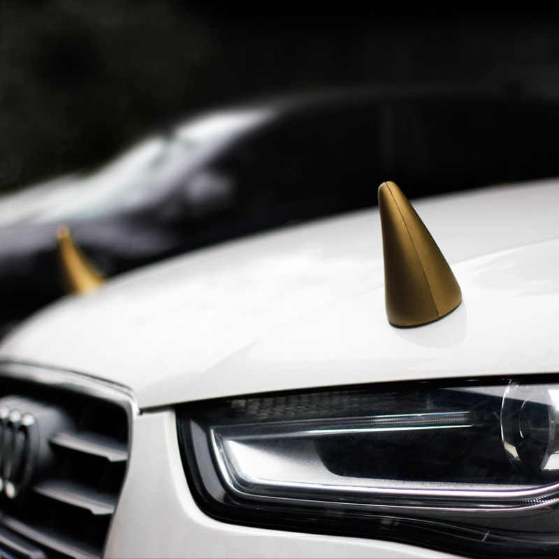 Car-stying Anti - collision Cute Car Sticker Small Sapling Bean Sprouts Personality Demon Angle Ear Roof Decorations Accessories