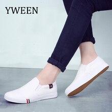806084511 YWEEN novos homens vulcanize sapatos homem moda sneakers lazer flats  plataforma estudante branco respirável sapatos único
