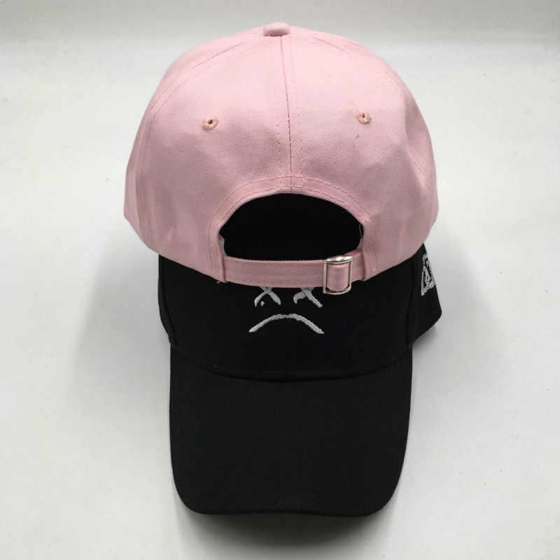 التطريز ليل اللمحة محزن بوي أبي قبعة للنساء القطن حزين الوجه K البوب قبعة بيسبول xxxtentacion قبعة الهيب هوب Snapback xxx الذكور قبعة