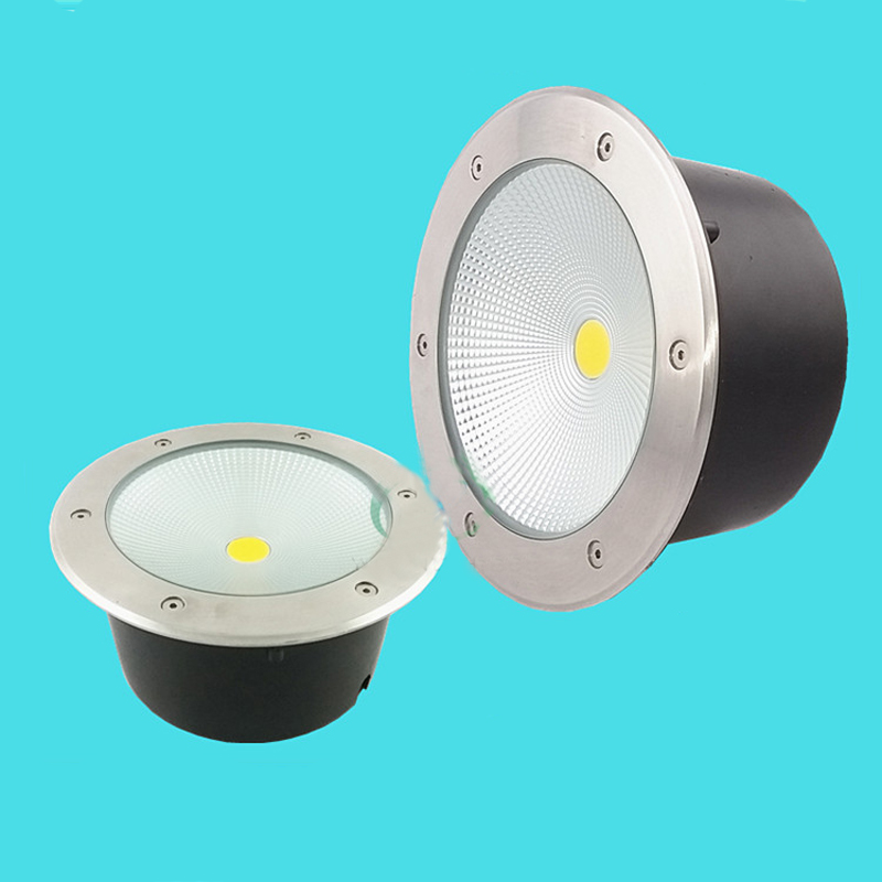 6pcs/lot 50W COB underground floor recessed lamp foot lamp led underground lamps Buried ground 85-265V buried lights free shipping 30w 50w cob led underground light ip68 buried recessed floor outdoor lamp ac85v 265v