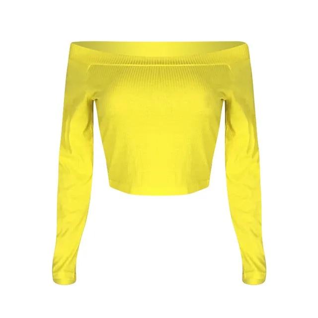 Sexy Off Shoulder Tops Women T-shirt Solid Long Sleeve Shirt Tee Shirt Femme Harajuku Womens Clothing Plus Size 3xl SJ1922F