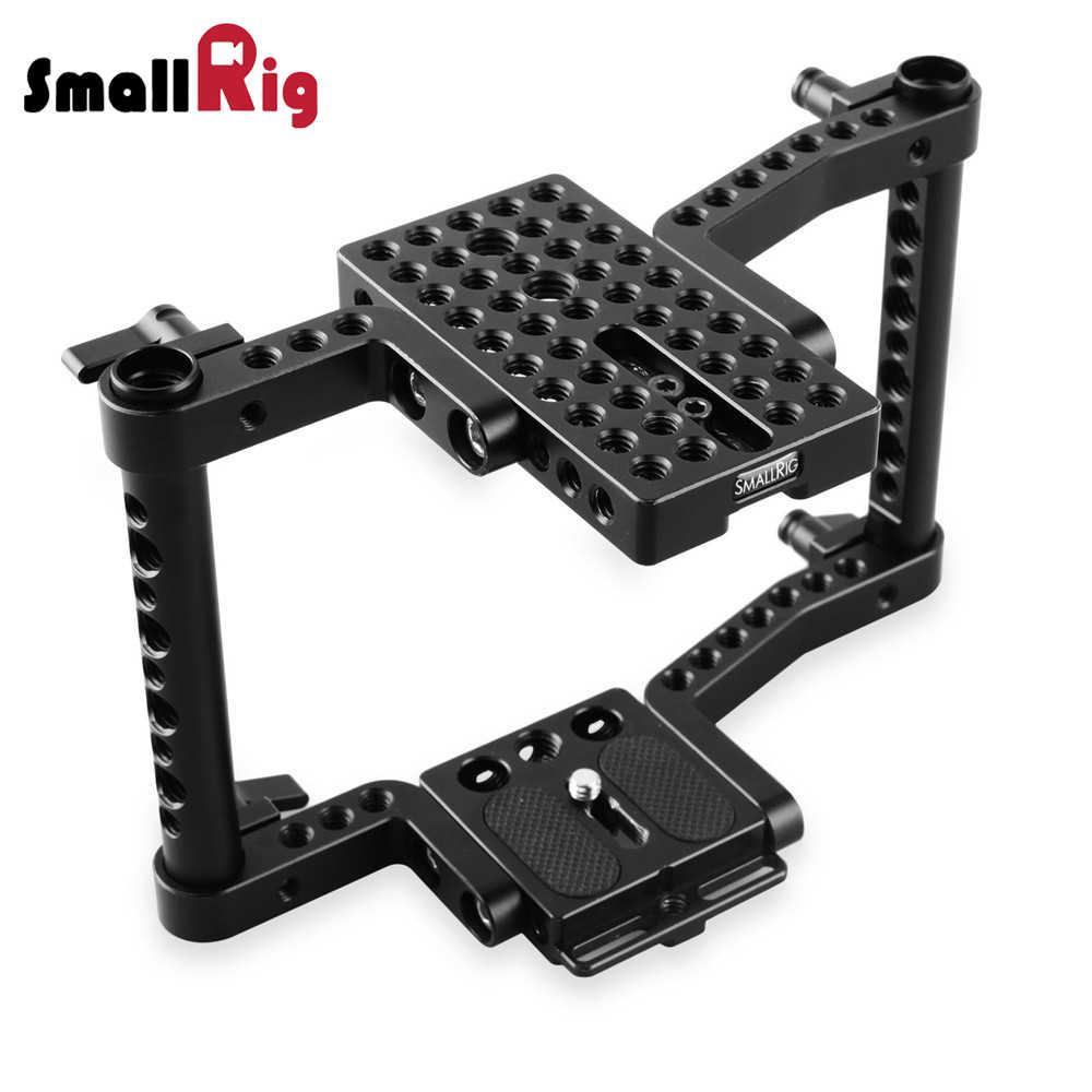 Smallrig هيكل قفصي الشكل للكاميرا لكانون 50 60 70 80D MarkII 5D MarkIII 5DS لنيكون D7000 7100 7200 لسوني A9 DSLR كاميرا تلاعب-1584