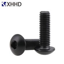Hex Button Head Socket Cap Screw Metric Thread Round Allen Mushroom Hexagon Machine Bolt Black 10.9 Grade M5 M6 M8