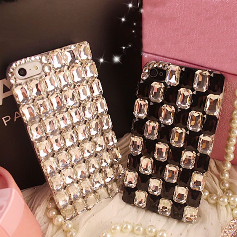 Pure crystal stones diamond phone <font><b>case</b></font> for iPhone 6 <font><b>6s</b></font> 7 8 plus X XS max XR for <font><b>Samsung</b></font> galaxy s6 s7 <font><b>edge</b></font> s8 s9 plus note 5 8 9 image