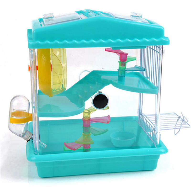 A1 Small pet supplies hamster portable portable cage basic cage acrylic transparent multilayer golden bear cray