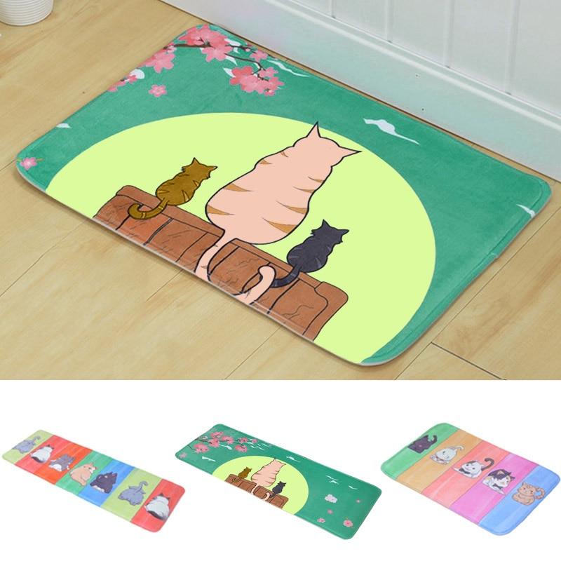 2019 Heißer Küche Teppich Fußmatte Tür Matten Fußmatte Für Wohnzimmer Wc Innen Schöne Katze Teppich Wasser-absorbieren Boden Matte 100% Hochwertige Materialien