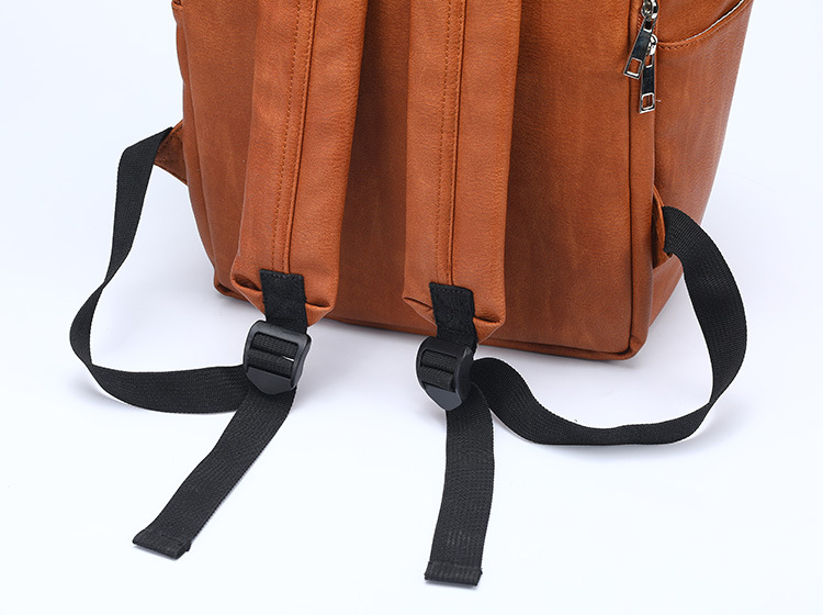 HTB1r1tpLFYqK1RjSZLeq6zXppXaA New Unisex Fashion Quality PU Leather Baby Diapers Bag Backpacks Maternity Changing Pad Stroller Straps Baby Bags Water Proof
