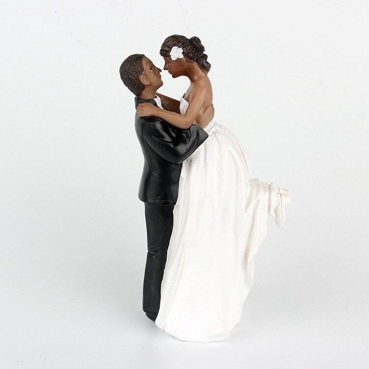 livraison gratuite de mariage de r sine g teau topper afro am ricain g teau couple poup e mari e. Black Bedroom Furniture Sets. Home Design Ideas