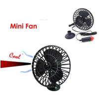 12 V Auto Car 4 inch Mini Silent Fan Car Forklift Suction Cup Cooling Driving Fan With Cigarette Lighter Plug цена