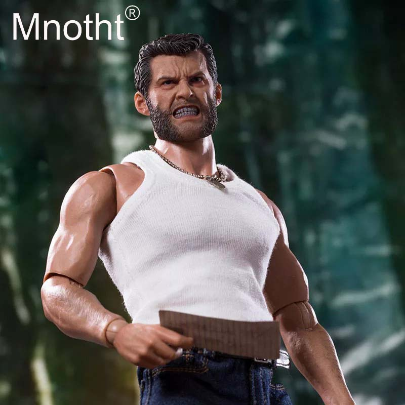 Mnotht 1:6 Scale Angry Wolverine Head Sculpt Rogan Wolverine angry version Head Carving Model Toys Action Figures Hobbies m3