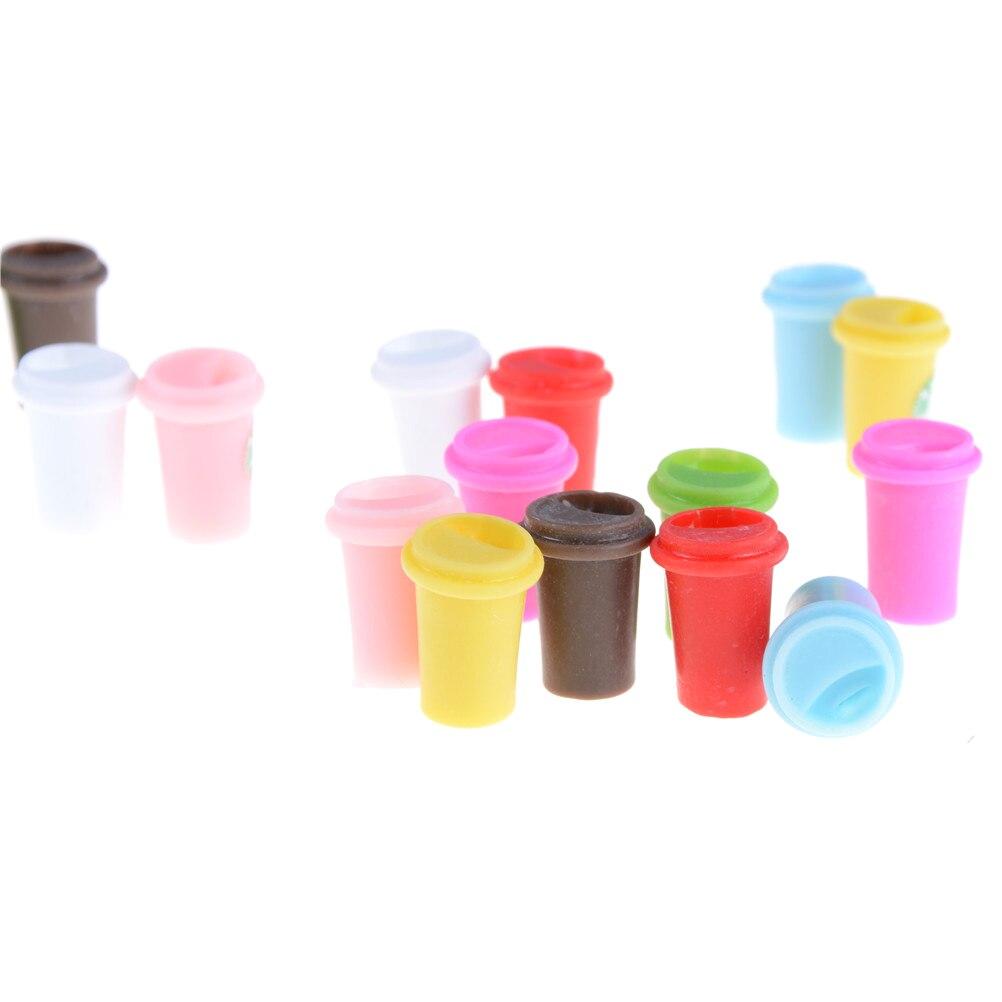 2 Stücke Mini Tasse Nette Miniatur Puppenhaus Kaffeetasse Küche Zimmer  Essen Trinken Hause Geschirr Dekore 8