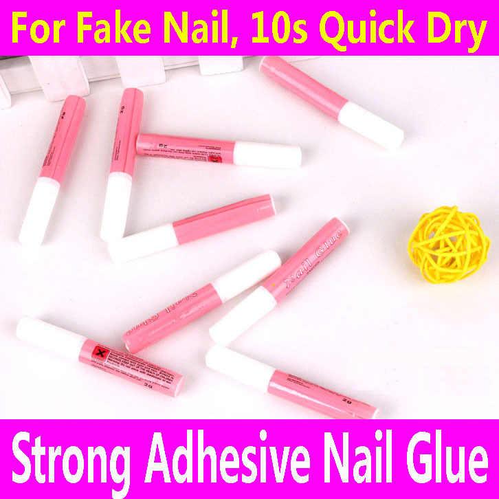 Membeli 3 Mendapatkan 30% Off: Nail Lem Perekat Super Kuat Palsu Palsu Acrylic Nail Berlian Imitasi Gems Makeup Gel Art Tips Perawatan Kecantikan Alat