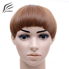 B7 jeedou Synthetic One Piece 40g Brown Blonde White Head Center Blunt Bangs 2Clips