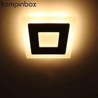18w Super Bright LED Wall Lamp Headboard Lamp Acrylic Shade Aluminium Bedside Lamp Indoor Background Wall