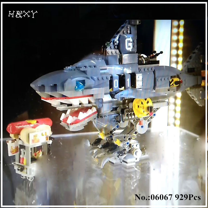 IN STOCK H&HXY 06067 929Pcs The Movies Series The Big Shark Set Building Blocks Bricks Funny Toys Model for lepin Christmas gift in stock lepin 16024 534pcs genuine idea series the big bang set action figures building blocks brick fun toys for children gift