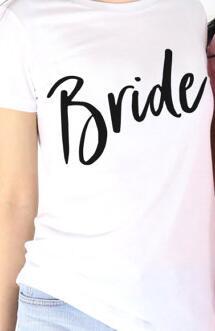 c5244e276bdaf US $8.08 14% OFF|Crew Neck Tee Bride Casual Slanted Script Bride t shirt  moletom do tumblr t shirt fashion girls tops tee bride gang drop ship -in  ...