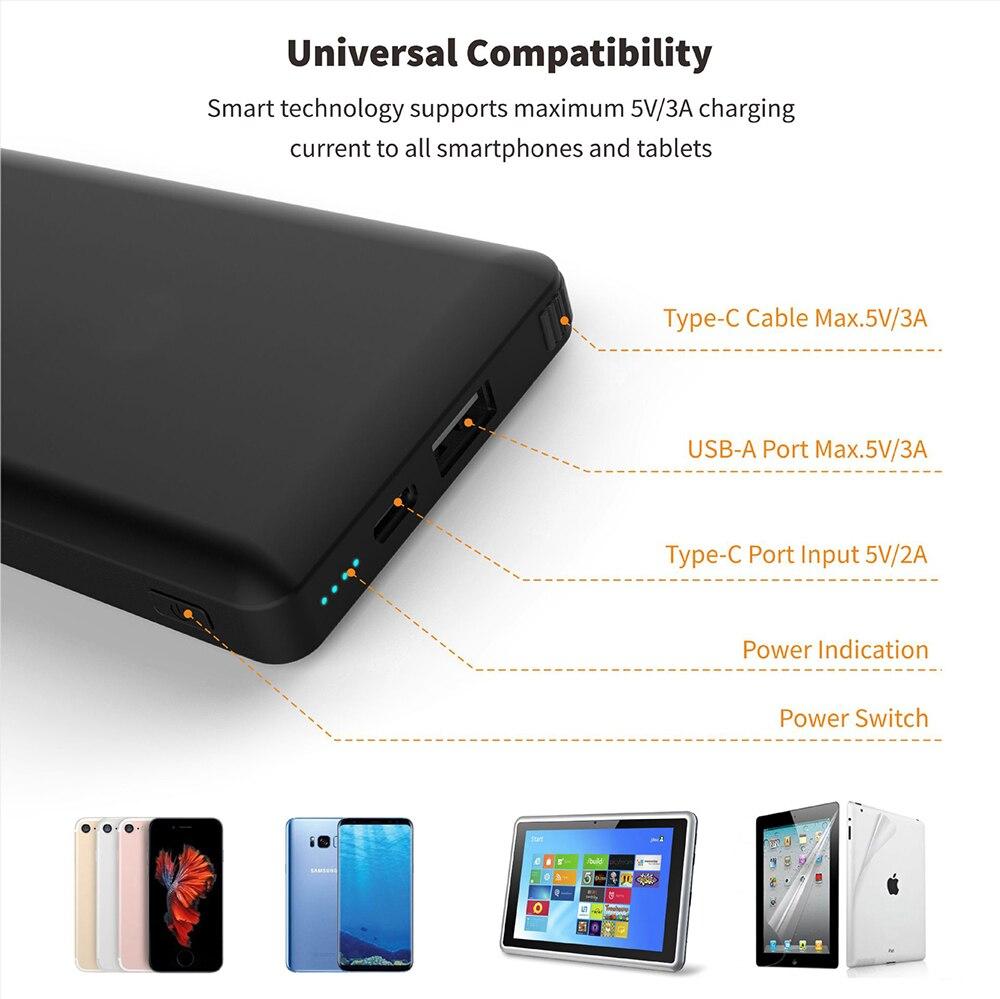 Batterie externe 10000 mAh pour Console de commutation ntint batterie externe pour Nintendo Switch chargeur rapide pour iPhone Android pour iPad - 5