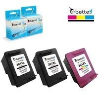 2BK 1C Printer Ink Cartridge For HP301 HP 301XL Deskjet D1000 1050 2050 2510 3050