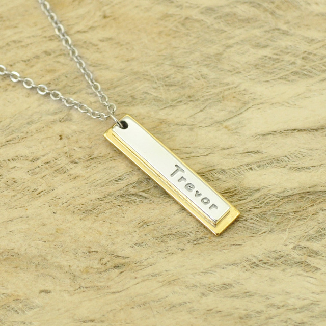 6961ad3f8e29a US $10.99  Custom Initials Necklace Personalized Gifts For Her Bar Necklace  Valentine's Day Name Necklace 4 Styles-in Chain Necklaces from Jewelry & ...