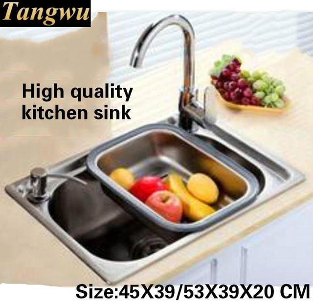 Tangwu fashion kitchen food grade 304 stainless steel water trough tangwu fashion kitchen food grade 304 stainless steel water trough the whole stretch small single workwithnaturefo