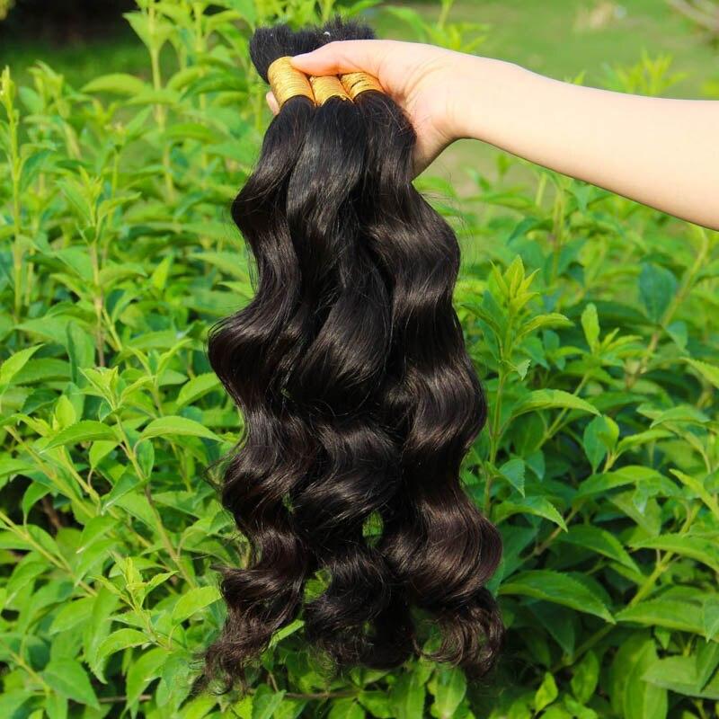 Hot Sale 8A loose wave Virign Brazilian Bulk Human Hair For Braiding 100% Unprocessed Human Braiding Hair Bulk No Weft 14-34 inc