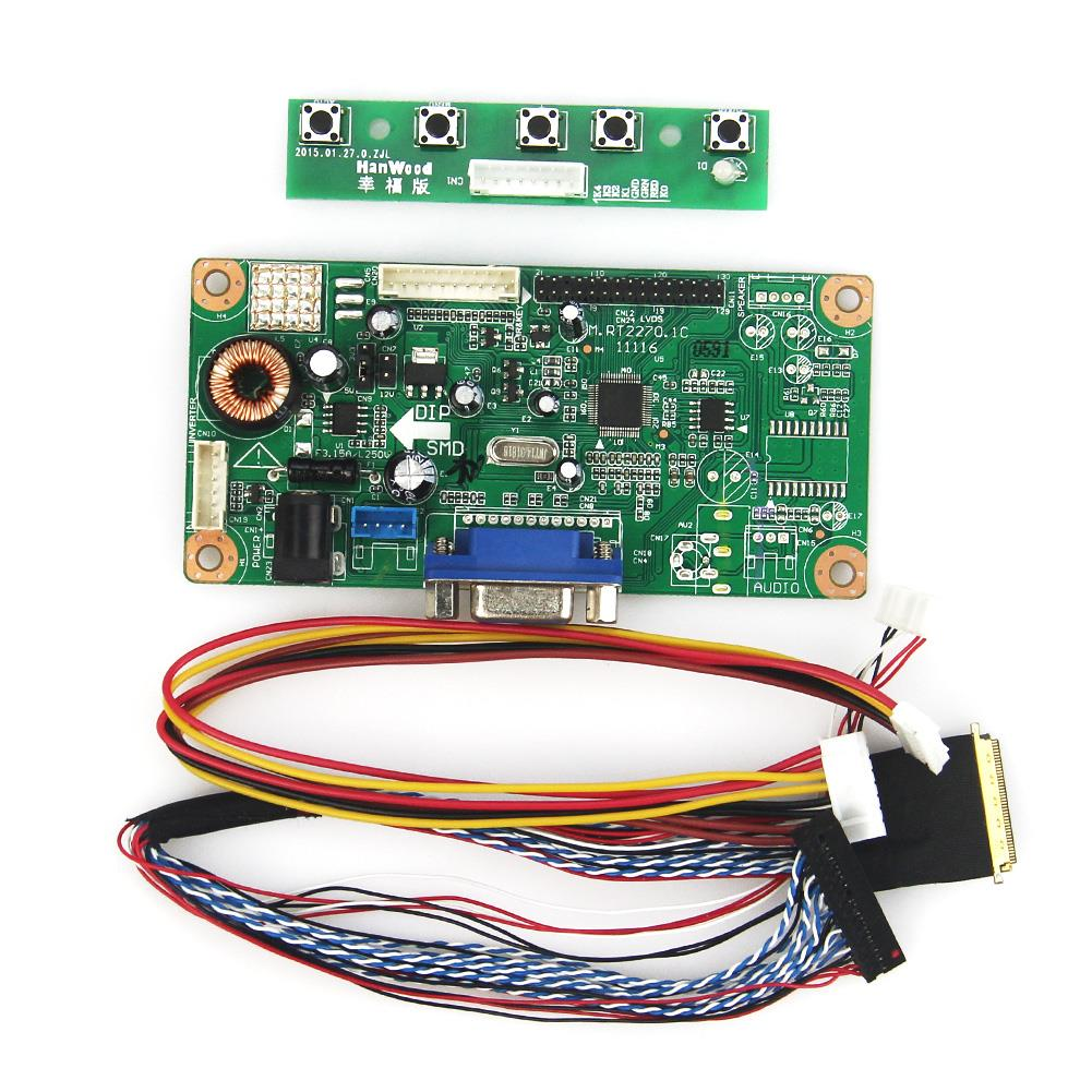 HDMI+DVI+VGA LCD Controller Kit for LED Panel 1366x768 BT156GW01 v4 NT68676.2A