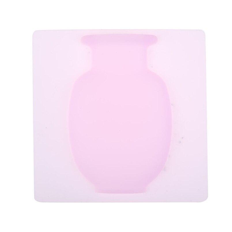 Современная ваза для украшения интерьера с силиконовая наклейка садовый гаджет растение обслуживание ваза декоративная стенная ваза Wazon 30JULY24 - Цвет: Розовый