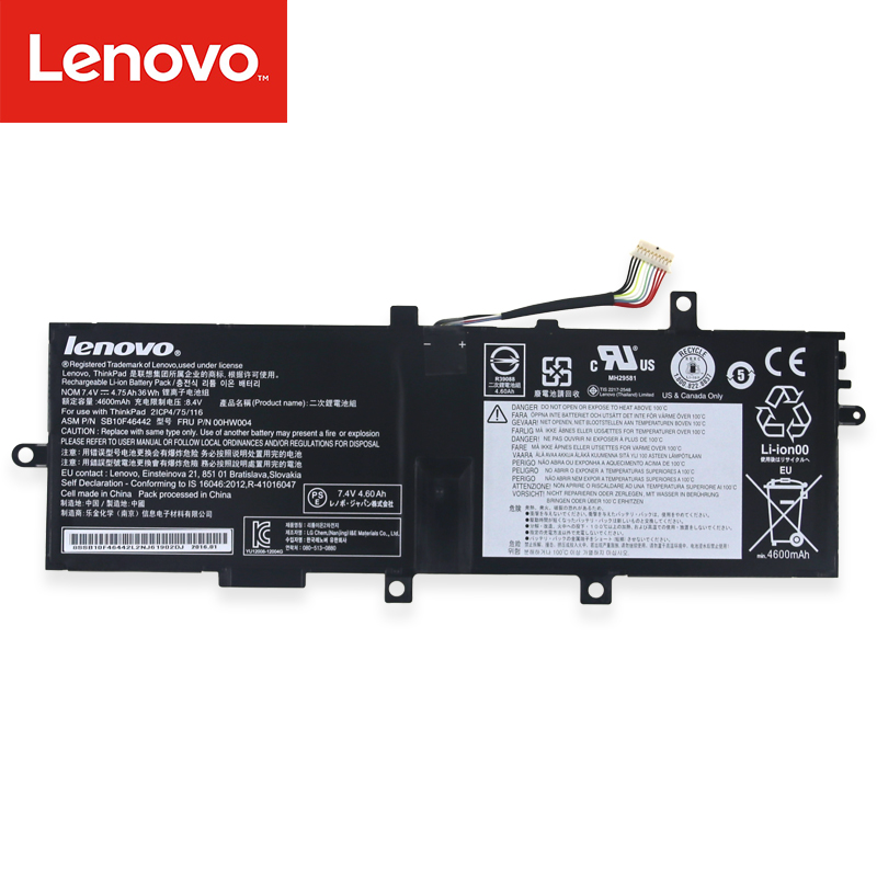 Original Laptop battery For Lenovo ThinkPad Helix 2 00HW004 00HW005 00HW010 00HW011 SB10F46442 SB10F46443 SB10F46448 14 8v 46wh new original laptop battery for lenovo thinkpad x1c carbon 45n1070 45n1071 3444 3448 3460