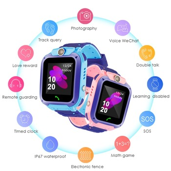 2019 Waterproof Kid Smart Watches Baby Watch for Children SOS Call Location Finder Locator Tracker Anti Lost Monitor Kids Gift