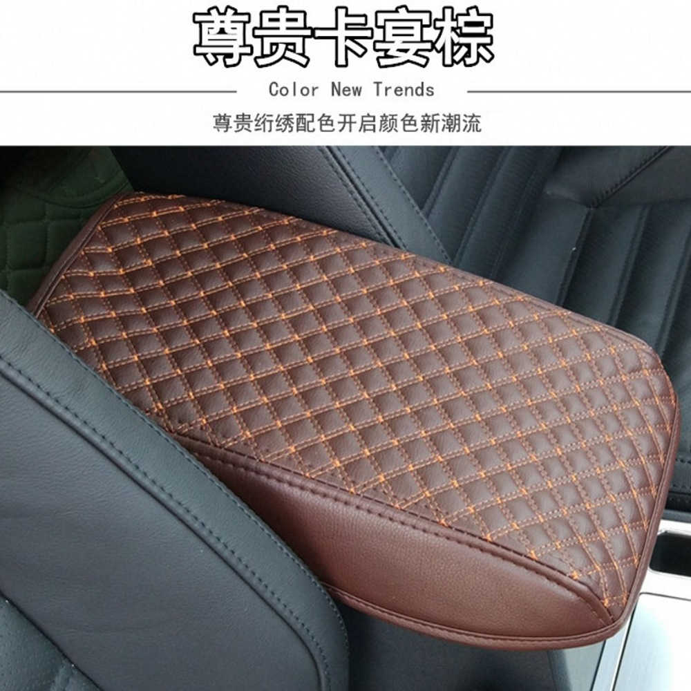 FITS MAZDA 6 ARMREST LID LEATHER COVER  08 green stitch