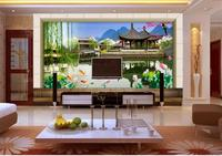 3d wallpaper custom photo non-woven mural West Lake sky clouds picture TV setting wall decoration 3d room wallpaper for wall
