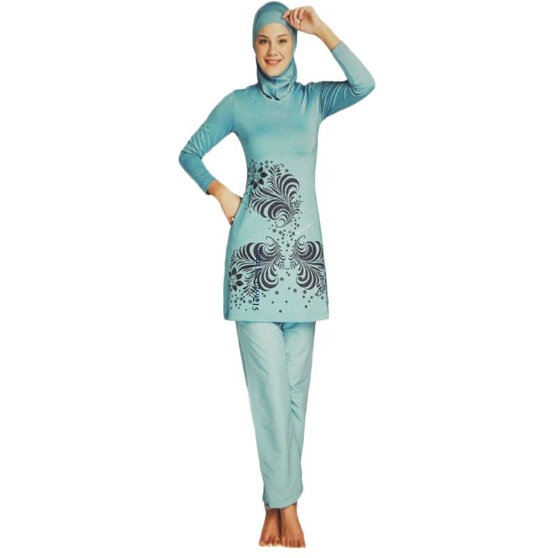 Abbigliamento spiaggia per Musulmani Islamico Costume Da Bagno Costume Da  Bagno Costumi Da Bagno Delle Donne Più Il Formato del Costume Da Bagno  Burkini ... 8e942b2e38c6