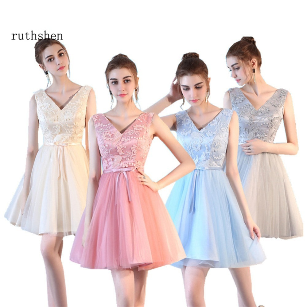 Tienda Online Ruthshen corta Vestidos de fiesta barato v-cuello ...