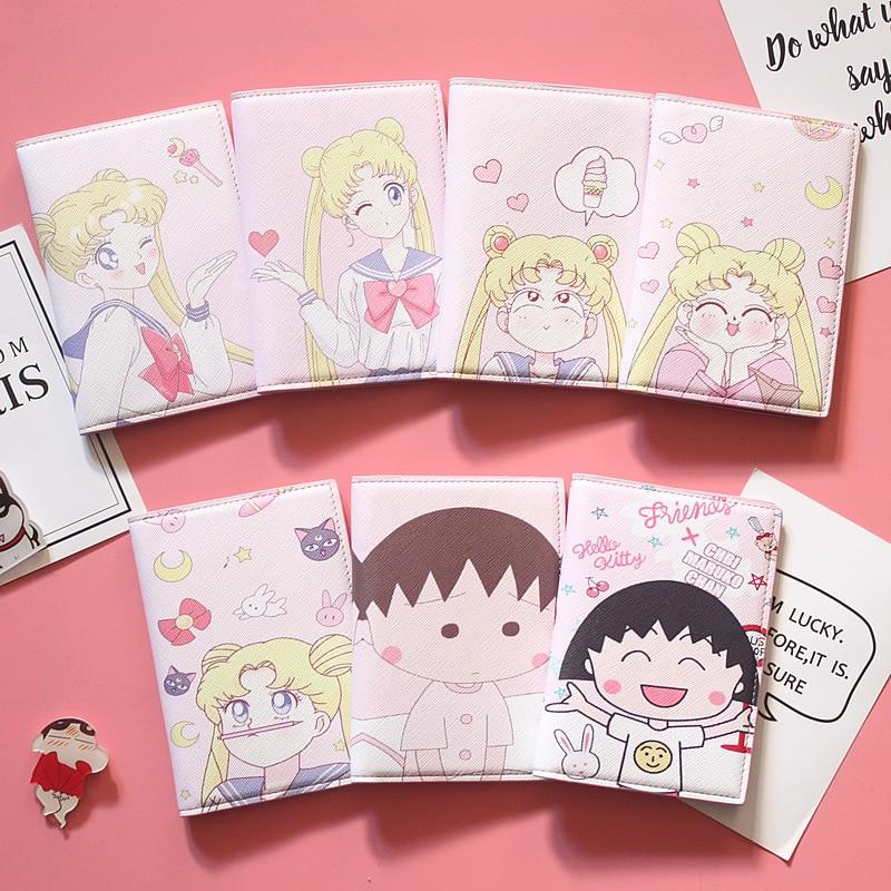 Sailor Moon Passport Cover for Women Travel Passport Case PU Leather Cartoon Credit Card Wallet Purse Girl Passport Holder T52-2 billetera sailor moon