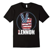 John Lennon - Red, White, Blue Peace T-Shirt  Free shipping newest Fashion Classic Funny Unique gift