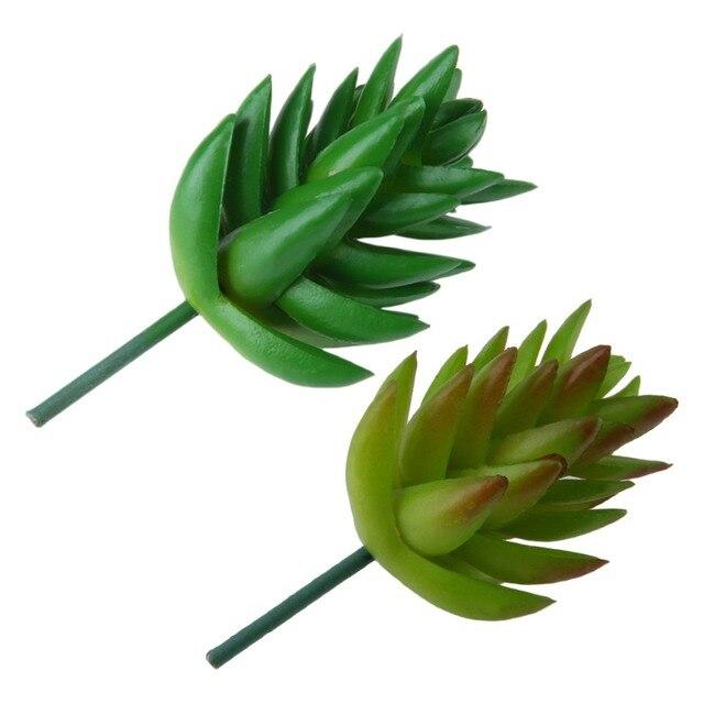 2Pcs Succulents Artificial Green Plants Garden Desert Artificial Plants Landscape Arrangement Garden Decor Cute Decoration