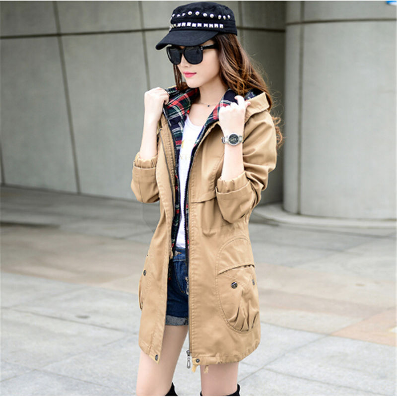 NUVOLE MODE 2018 nouvelles femmes printemps automne veste grandes tailles survêtement Parka femmes manteaux sweat à capuche en coton veste