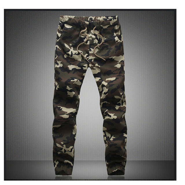 2017 Мода в Стиле Милитари Камуфляж Мужские Брюки milita Camo Print Духи Мужской мужские брюки Pantalon Homme Мужчины Бегунов