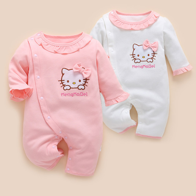 531d53bc95e 2018 Real Baby Summer Rompers Female 1 Year Old Girl For Cotton Spring And  Autumn 4 Newborn 6-12 Clothes Tide Models 3 Months