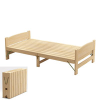 100% Wooden Bed,Folding wooden beds, children's adult furniture, bedroom furniture children furniture Dormitory bed sofa cama