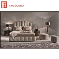 Роскошный дизайн современная кожаная кровать