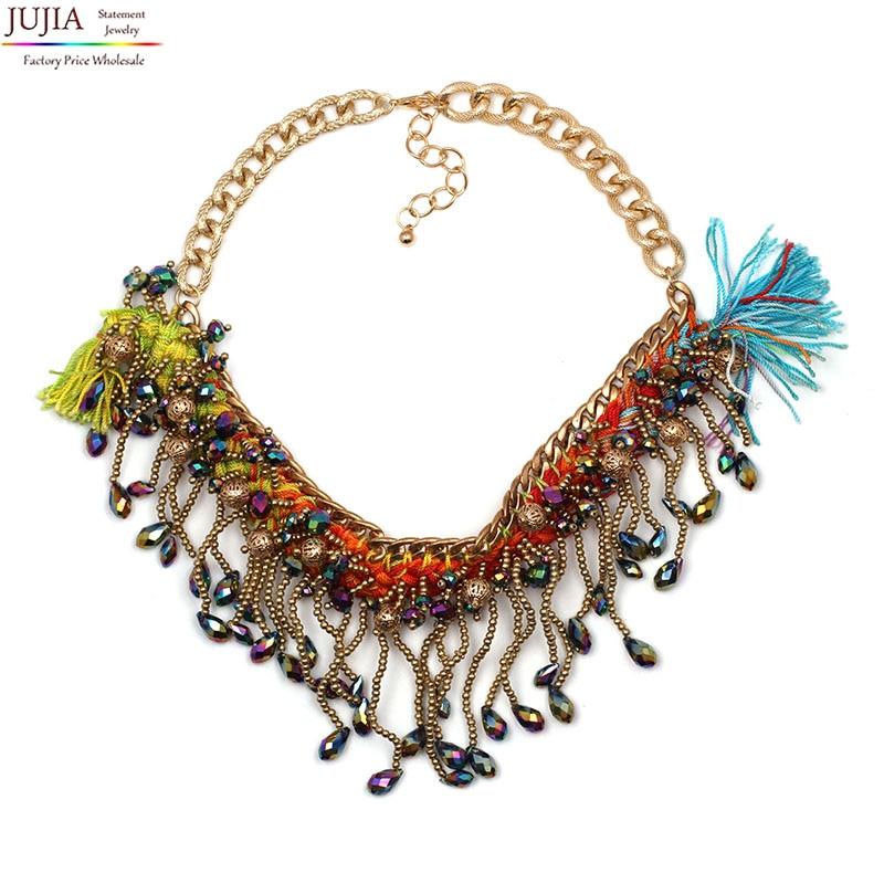 96d835badcef Nueva buena calidad hechos a mano moda vintage collar gargantilla collares  y colgantes maxi declaración collar